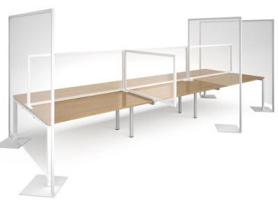 Freestanding Polyvinyl Screens For Office Spaces And Desks
