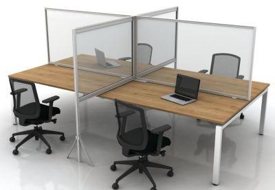 Freestanding Goal Post Screen On Desks