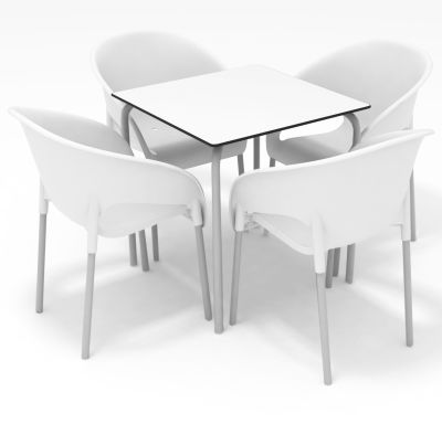 Ivora Closed-back Armchair & Table Set