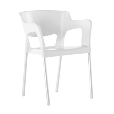 Ivora White Poly Chair - Open Back