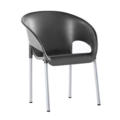 Anthracite Poly Chair - Closed Back
