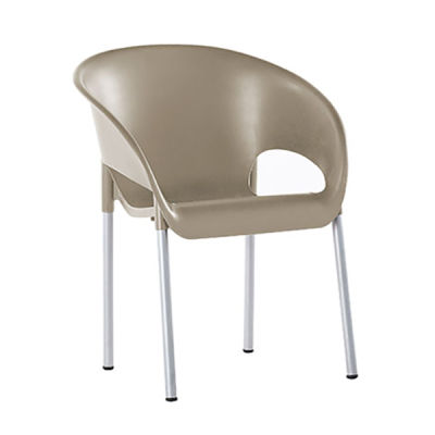 Taupe Poly Chair - Closed Back