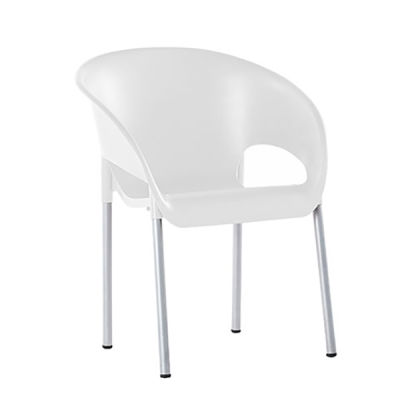 White Poly Chair - Closed Back