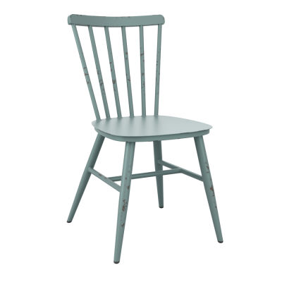 Distressed Blue Side Chair