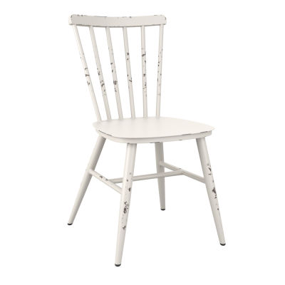 Distressed White Side Chair