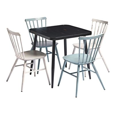 Angelica Black Bistro Table & Chair Bundle