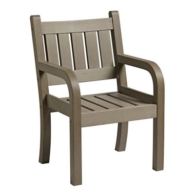 Lindon Grey Wood-effect Arm Chair