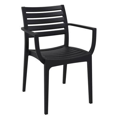 Stuart Black Polypropylene Chair