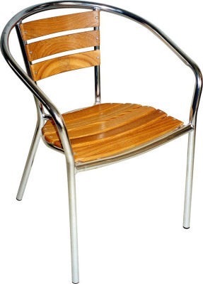 Oceania Teak Wood Aluminium Armchair