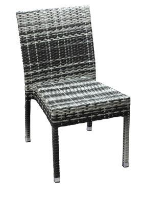Lambert Grey & Cream PVC Weave Side Chair