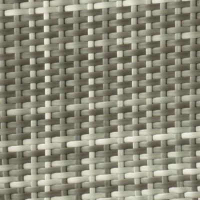 Grey & Cream PVC Weave
