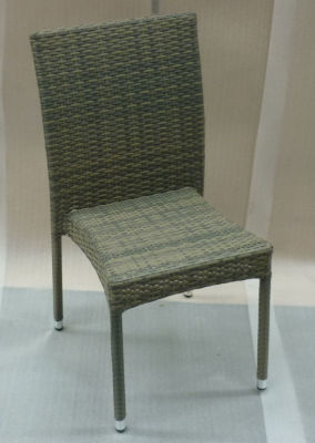 Lambert Grey Rattan Weave Side Chair