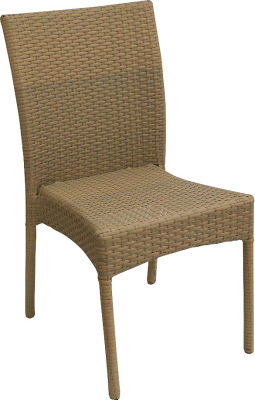 Lambert Natural Rattan Weave Side Chair
