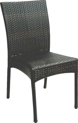 Lambert Wenge Rattan Weave Side Chair