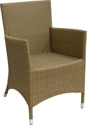 Rattan Weave Natural Armchair