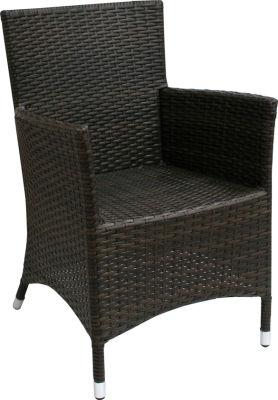 Rattan Weave Wenge Armchair