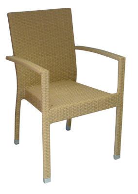 Rattan Weave Natural Open Armchair