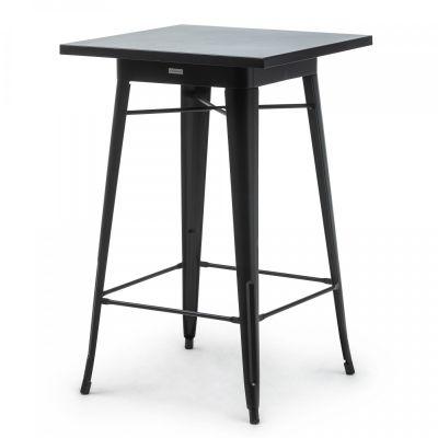 Fern Party Table Black Steel