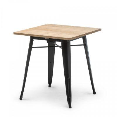 Fern Stackable DInner Table Elm Wood