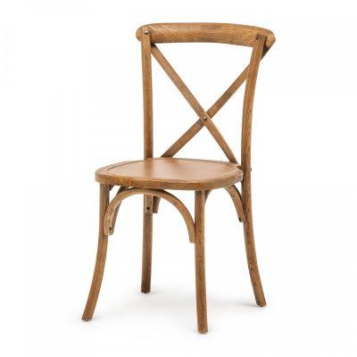 Fern Elm Wood Cross Stack Chair