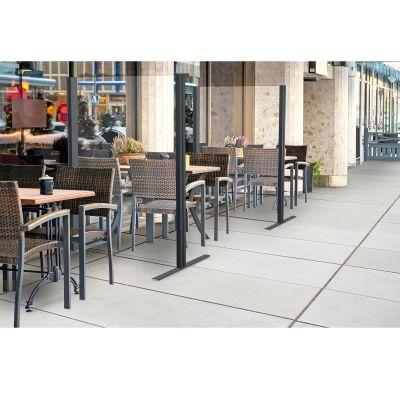 Floor Standing Protection Screen - Outside Restaurant