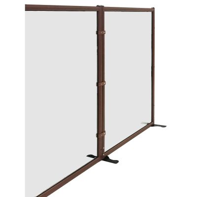 Tempered Glass Floor Standing Protection Screen