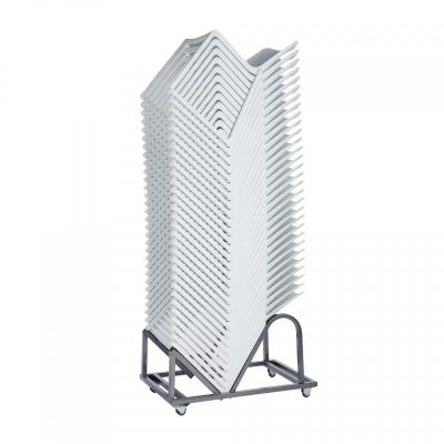 Kasar Chair White Stacked Trolley