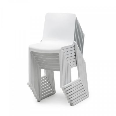 Kasar Chair White Stacked