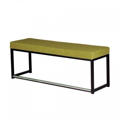 Fern Lounge Sofa Black Frame Lime Linen