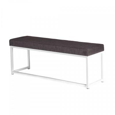 Fern Lounge Sofa White Frame Anthracite Linen