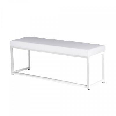 Fern Lounge Sofa White Frame Faux Leather