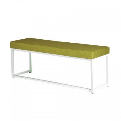 Fern Lounge Sofa White Frame Lime Linen