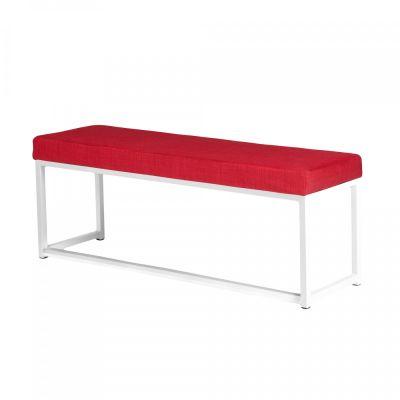 Fern Lounge Sofa White Frame Red Linen