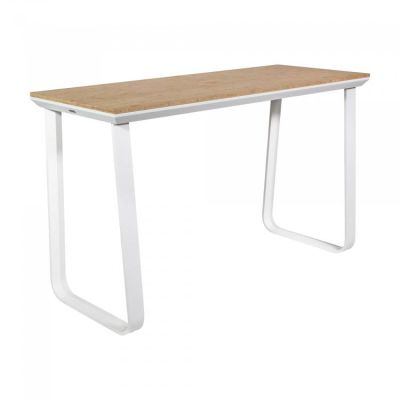 Fern Grande Rock Party Table White Frame Bamboo
