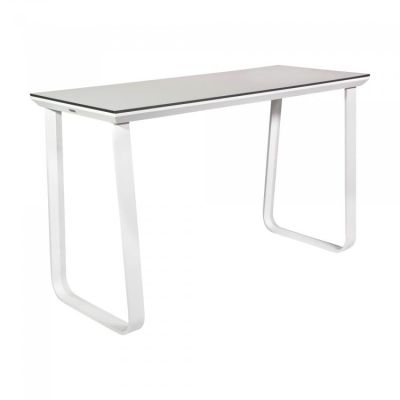 Fern Grande Rock Party Table White Frame Hardcore Melamine