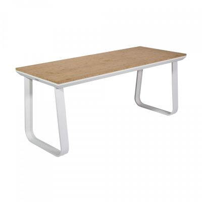 Fern Lounge Rock Table White Frame Bamboo