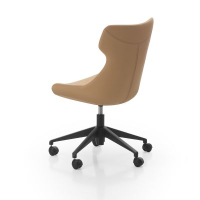 Marc-chair-with-black-base-on-castors-1