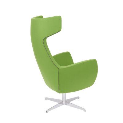 Oregon-Chair-Chrome-Swivel-Frame Rear Angle