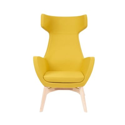 Oregon-Chair-Wooden-Frame Yellow Front