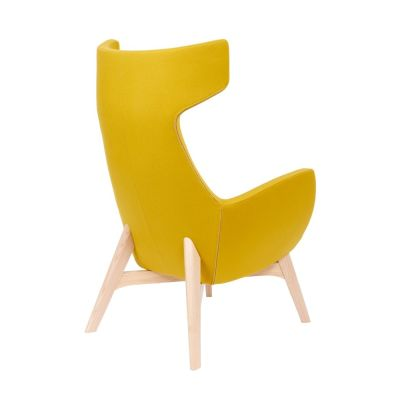 Oregon-Chair-Wooden-Frame Yellow Rear Angle