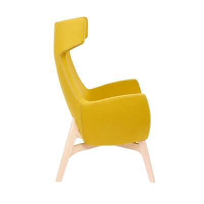 Oregon-Chair-Wooden-Frame Yellow Side