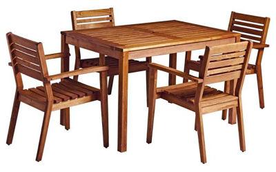 Trafford Rectangular Wooden Table & Armchair Bundle