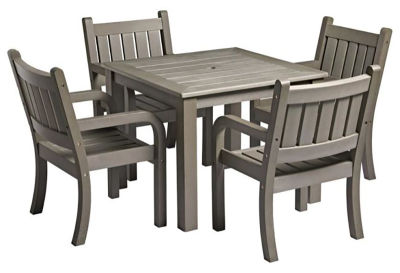 Lindon Grey Outdoor Dining Table & Armchair Bundle