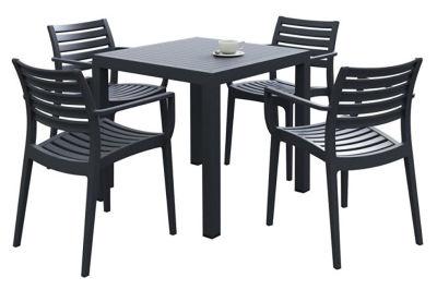 Stuart Outdoor Plastic Table And Armchair Bundle