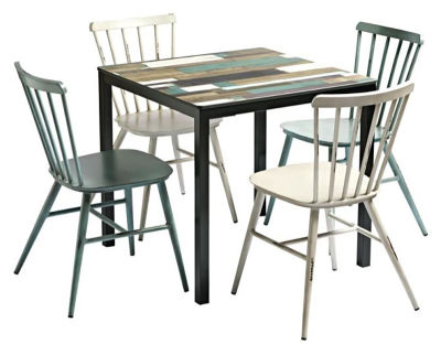 Evert Outdoor Bistro Table And Side Chair Bundle