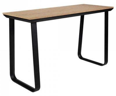 Fern Grande Rock Party Table Black Frame Bamboo