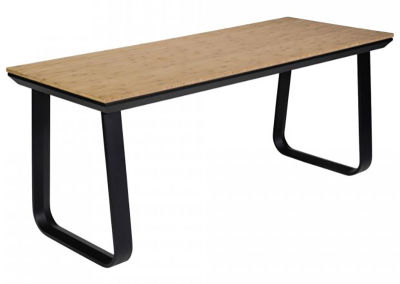 Fern Lounge Rock Table Black Frame Bamboo