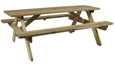 Hartford Wooden Outdoor Picnic Table
