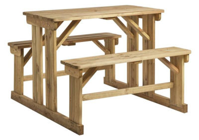 Oxford Easy Access 6 Person Poseur Table Bench Set