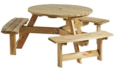 Cambridge 6 Seater Round Picnic Table Set